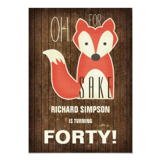 Oh, For Fox Sake Birthday Party Card