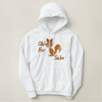 Oh For Fox Sake Embroidered Hoodie