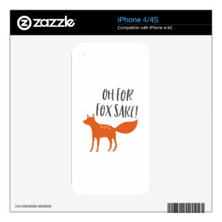 Oh For Fox Sake! iPhone 4S Skins