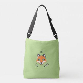 Oh! For Fox Sake phrase Emoji cartoon Crossbody Bag