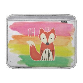 Oh For Fox Sake Watercolor Stripes MacBook Air Sleeve