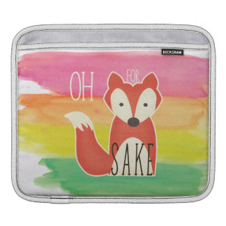 Oh For Fox Sake Watercolor Stripes Sleeve For iPads