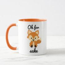 """""""Oh For Fox Sakes"""" - Orange Ringer Combo Mug"""