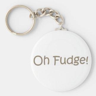 Oh Fudge! Basic Round Button Keychain