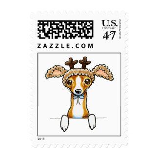Oh galgo italiano de los ciervos sello postal