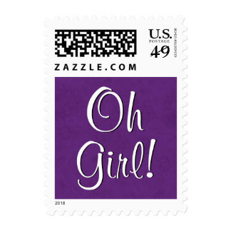 Oh Girl!  Baby Shower or Announcement V2 Postage