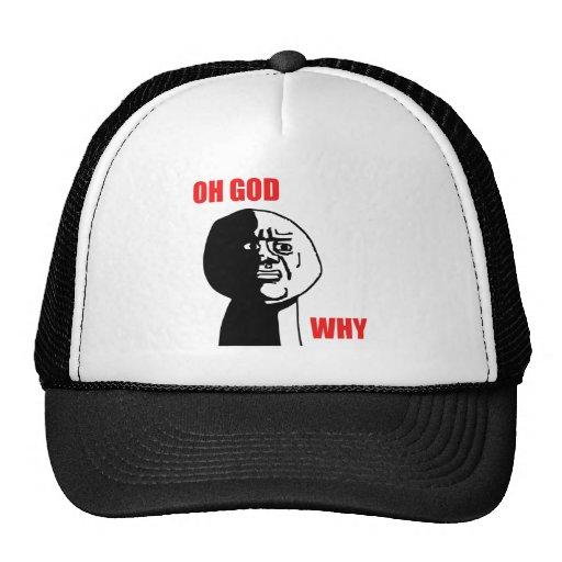 Oh God Why Guy Rage Face Meme Mesh Hats