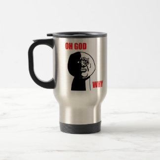 Oh God Why Guy Rage Face Meme Coffee Mugs