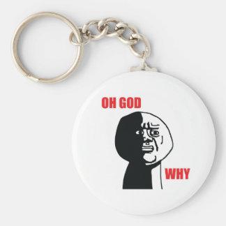 Oh God Why - Keychain