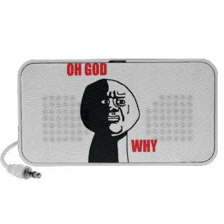 Oh God Why - Portable Speaker