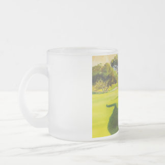 Oh golly! frosted glass coffee mug