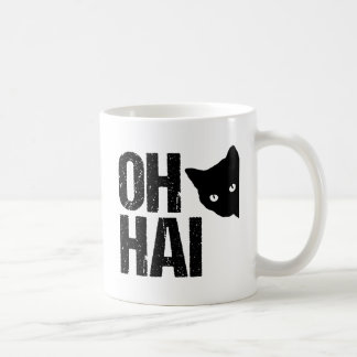 Oh Hai Funny Cat Coffee Mug