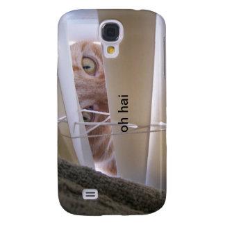 Oh Hai - gato en la ventana Funda Para Galaxy S4