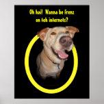 Oh hai!  Wanna be frenz on teh internetz? Poster