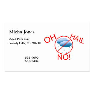 Oh Hail No Double-Sided Standard Business Cards (Pack Of 100)