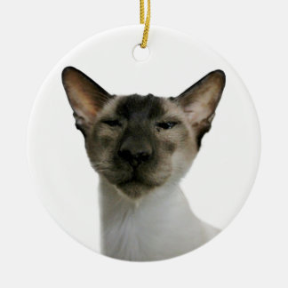Oh Handsome Me Double-Sided Ceramic Round Christmas Ornament