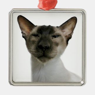 Oh Handsome Me Square Metal Christmas Ornament
