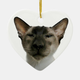 Oh Handsome Me Double-Sided Heart Ceramic Christmas Ornament