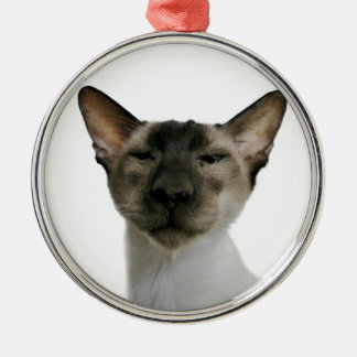 Oh Handsome Me Round Metal Christmas Ornament