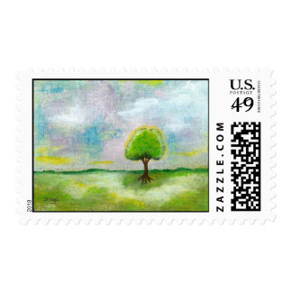 Oh Happy Day! Medium Postage Stamps From Painting