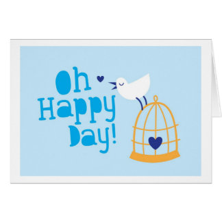 Oh Happy Day! with blue bird Card