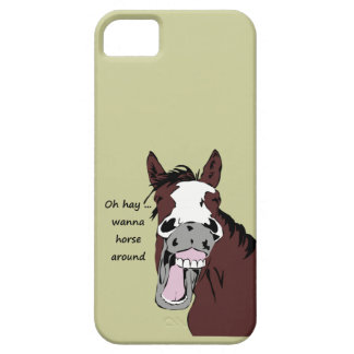 Oh hay wanna horse around fun Quote  Funny horse iPhone SE/5/5s Case