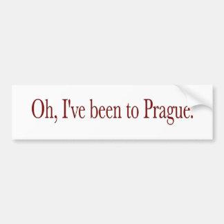 Oh he estado a Praga Pegatina De Parachoque