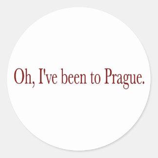 Oh he estado a Praga Pegatina Redonda