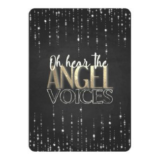 Oh Hear The Angel Voices Photo Christmas Card