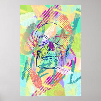 Oh Hell Sherbert Skull Poster Design