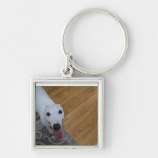 Oh Hi! Greyhound Love Keychain