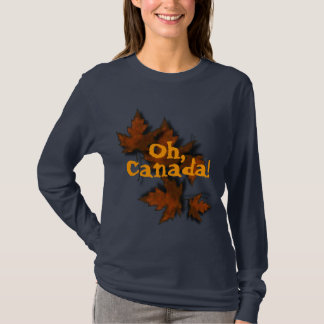 Oh hojas de arce de bronce de Canadá Playera