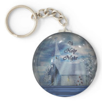 Oh Holy Night Snow Globe Keychain