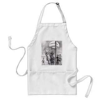 Oh, holy one. Religious playing basketball. Apron