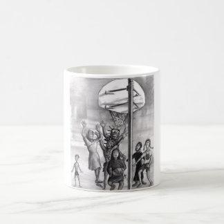 Oh, holy one. Religious playing basketball. Coffee Mug