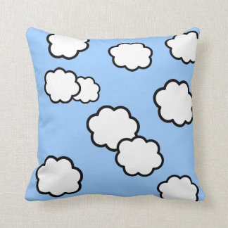 Oh Honey Sunny Skies - Quotes and Clouds Pillow