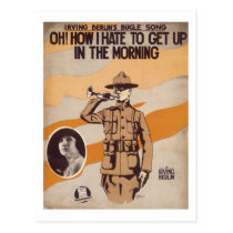 Oh! How I Hate To Get Up In The Morning Songbook C Postcard