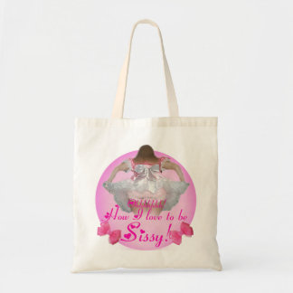 Oh how I love to be sissy Canvas Bags