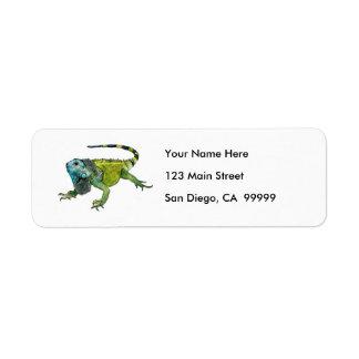 Oh How Iguana Go Home Label