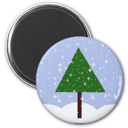 Oh imán del árbol de navidad