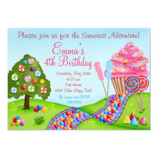Oh invitaciones dulces de la magdalena del anuncio personalizado