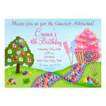 Oh invitaciones dulces de la magdalena del cumplea invitaciones personales