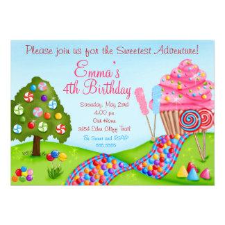 Oh invitaciones dulces de la magdalena del cumplea comunicados