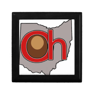 Oh! io! Ohio in Red and Gray with a Buckeye Gift Box