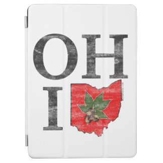 OH IO Typographic Ohio Vintage Red Buckeye Nut iPad Air Cover