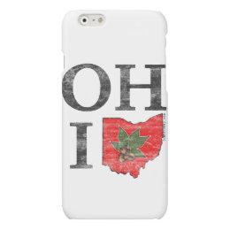 OH IO Typographic Ohio Vintage Red Buckeye Nut Matte iPhone 6 Case