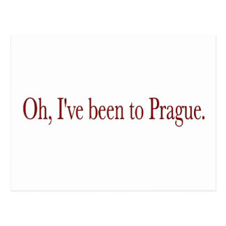 Oh I'Ve Been To Prague Postcard