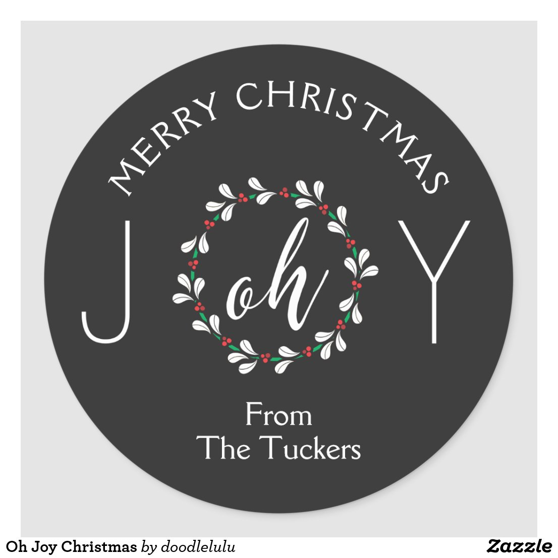 Oh Joy Christmas Classic Round Sticker