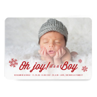Oh Joy It's a Boy Baby Announcement Holiday Card