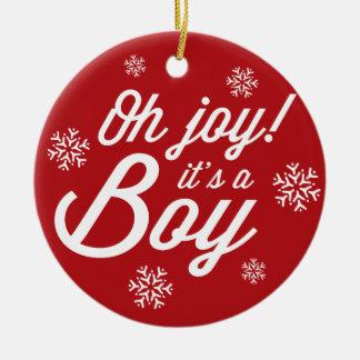 Oh Joy! It's a Boy Baby Christmas Photo Ornament